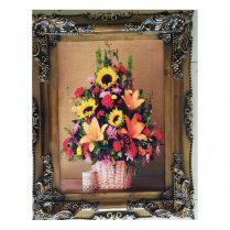 تابلوفرش جدید گلدان آفتابگردان بافت کاشان کد ۲۸۴