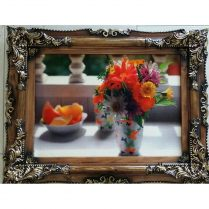 تابلوفرش جدید گلدان و میزسفید بافت کاشان کد ۲۸۶