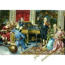 تابلو فرش دستبافت کلاس موسیقی