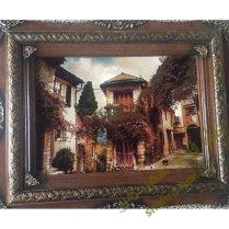 تابلوفرش جدید خانه روستایی بافت کاشان کد ۲۶۹